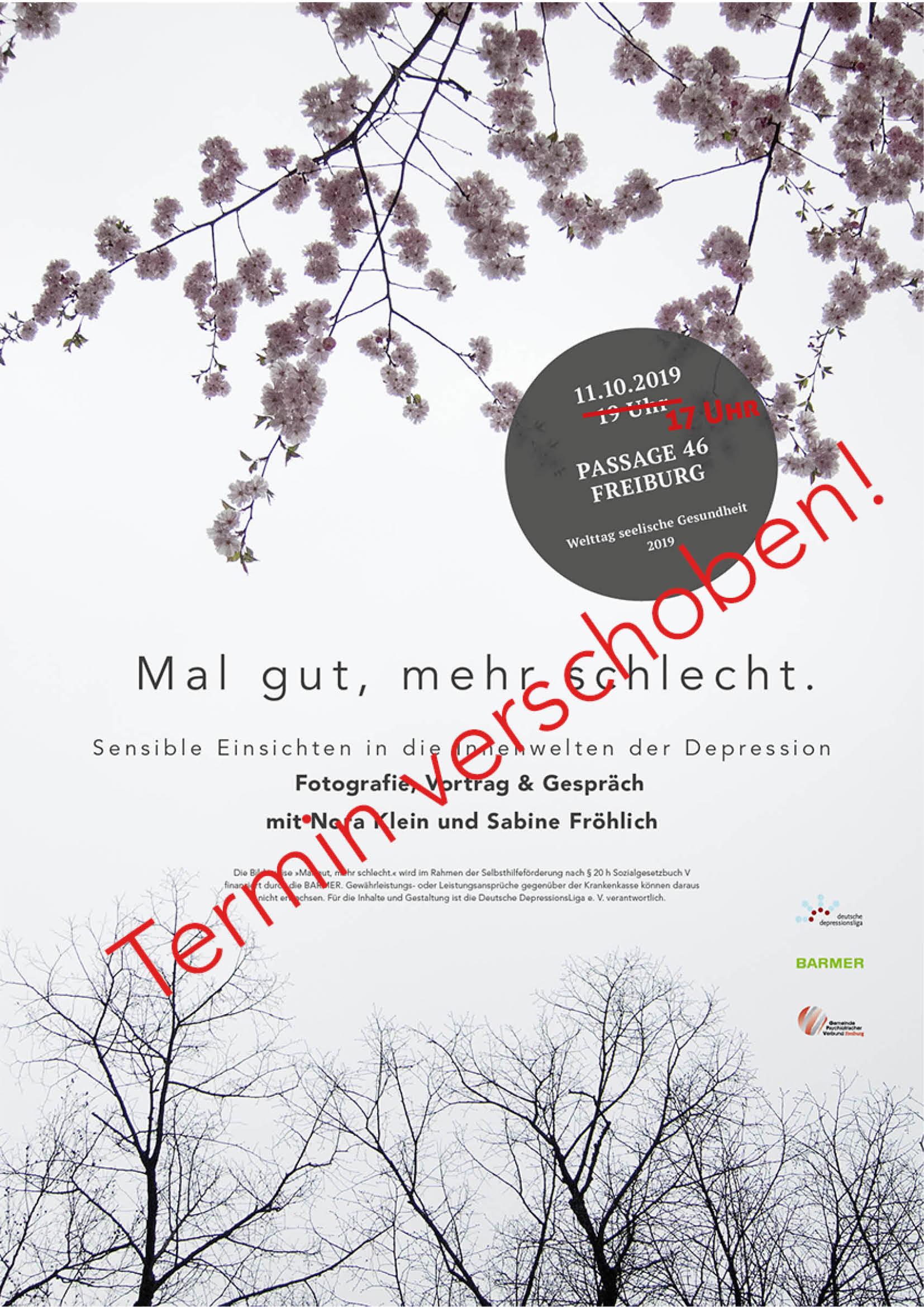 Terminänderung Vortrag Freiburg